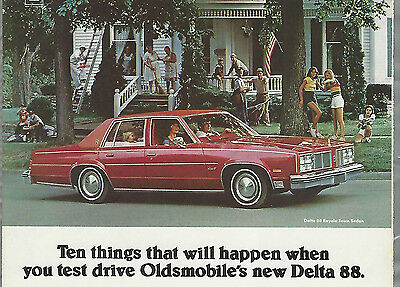 1977 Oldsmobile DELTA 88 advertisement, OLDS ad, Delta Eighty Eight