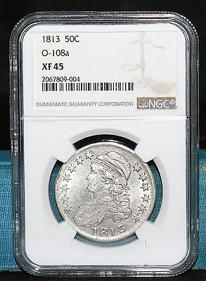 1813 Capped Bust Half Dollar O-108a NGC XF 45