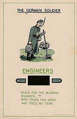 New A4 Print Ww2 The German Soldier British Army Recce Poster Engineers