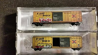 Z Scale MTL 50' Factory Weathered Railbox Box Car's x 2