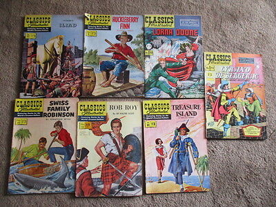 Job Lot (7) of Classics Illustrated No;s 1,32,42,64, 77,79,118