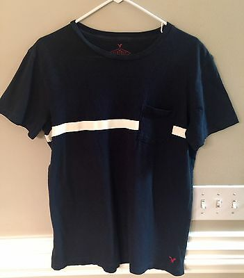 Men's Navy American Eagle Outfitters Vintage Pocket T-Shirt Size M