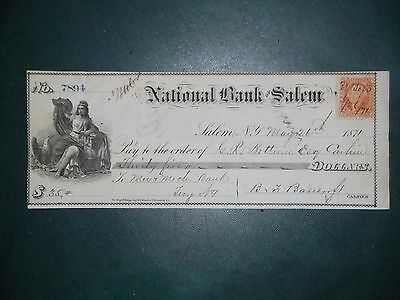 National Bank of Salem. May 26, 1871. Salem, N.Y.