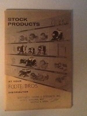 1957 Foote Bros, Stock Products Catalog Power Transmission Gear Reducers