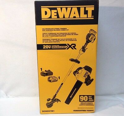 "DEWALT DCK097M1 Brushless Combo DCBL720 20V Blower & DCST920 13"" String Trimmer"