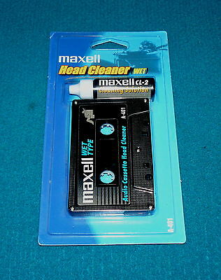 Retro/New! MAXELL Cassette Tape HEAD CLEANER (Wet) A-401