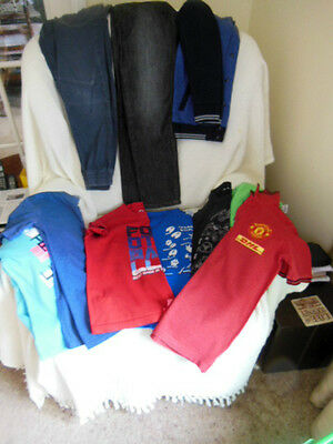 Boys Large Bundle Of 10 Items Age 9-10 10-11 Tee Shirts Trousers Baseball Top