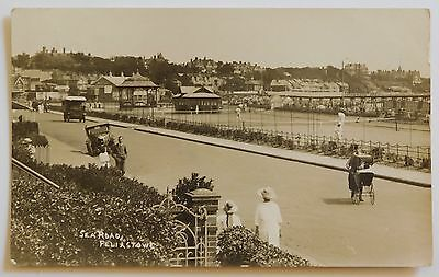 FELIXSTOWE, Sea Road, Suffolk RP - 1925 - Vintage postcard