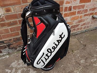 Titleist 2016 Tour Staff Golf Bag Black White Red 6-Way Divider