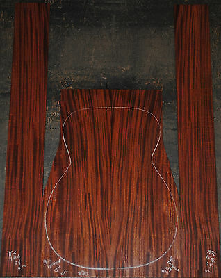 African Mahogany Acoustic Back and Side Gutiar Set Luthier