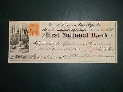 First National Bank of Jersey City. June 21, 1865. Jersey City, N.J.