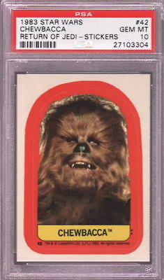 1983 Star Wars Return Of The Jedi Stickers #42 Chewbacca Psa 10 N2457044-304