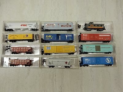 Micro Trains Freight Car Lot ( Western Maryland-Great Northern 12 Pieces ) # 905