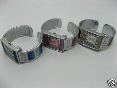 5 Ladies Jewelry Bangle Cuff Watches wa-w96