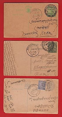 India Local Postal Stationery Cards (12) See Decription L5
