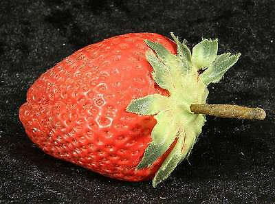 faux fruit single strawberry  ideal for display afternoon tea tearoom design 1