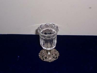 Rare Germany German 800 Silver Sterling & Glass Toothpick Holder Shot Glass