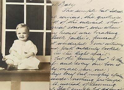 Mournful Handwritten Letter Sorrowful Funeral Of Child Jackie Morton To Mother
