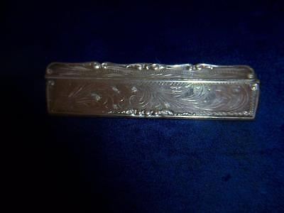 Vintage 800 Silver Sterling Engraved Etched Hair Comb & Case