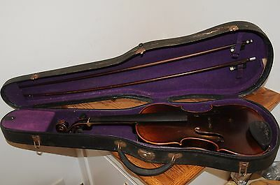 Antique Violin Josef Guarnerius Made In Germany Musical Instrument String 4/4 ..