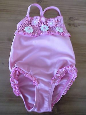 Baby Girls Pink Swimming Costume..Age 9 - 12 Months.Olympus