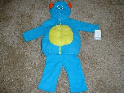 Carters Halloween Blue Monster Costume Size 3-6 mos month Baby Boys NWT New $38
