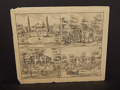 Illinois Cass County Map Residence of S. Emmons   1874  !J14#98