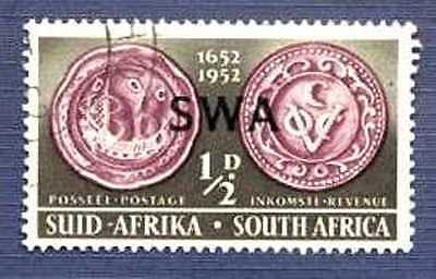 """South West Africa 1952-#166-""""swa"""" Overprint-Used"""