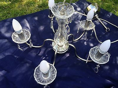 Fabulous Vintage Style Crystal Droplet 5 Light Chandelier