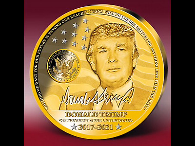 45th President Donald Trump' Ultra-large 100mm Commemorative coin Strike/w,mean