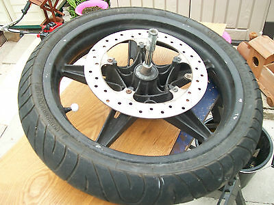 cpi gtr 50 complete front wheel inc tyre disc and spindle bolt free uk postage