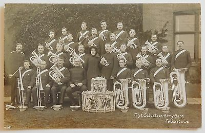 FELIXSTOWE, Salvation Army Band, Suffolk RP - 1910's - Vintage postcard