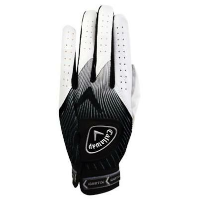 New Callaway Ion X Men's Golf Glove - White/Black - Left Hand - Cadet Small