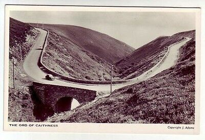 Hairpin Bend The Ord Of Caithness Real Photograph J Adams Old Postcard Unposted