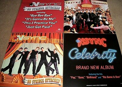 NSYNC / No Strings Attached / Celebrity / 2 Jive Double Sided Promo Posters RARE