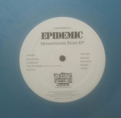 Epidemic/monochrome Skies Ep 1 Coloured Vinyl Chopped Herring Records Debut Wax