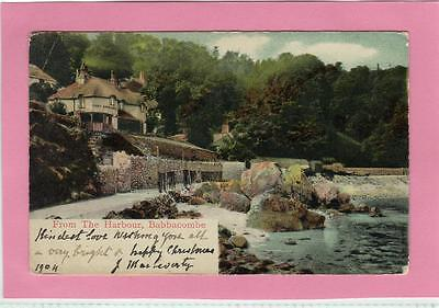 BABBACOMBE fr The Harbour Devon old Postcard used 1904