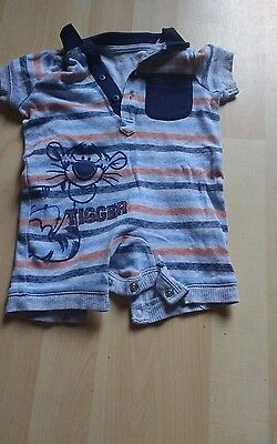 Baby Boys Tigger Summer All In One Aged 0-3Mths