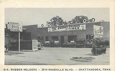 Chattanooga, Tennessee Ok Rubber Welders Garage Tires Advertising Postcard View