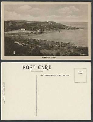 Jersey Old Postcard ROZEL BAY Harbour Boats Pier Jetty Boats Seaside Panorama FF