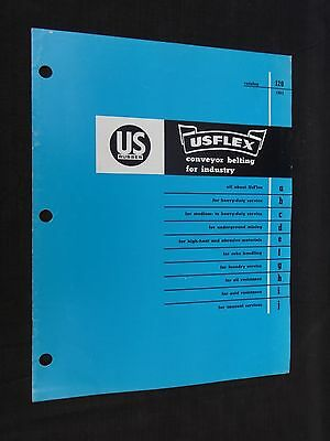 1963 US Rubber USFLEX Conveyor Belting For Industry Catalog No 120