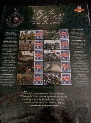 2014 GB 350 Years Royal Marines MNH Sheet Generic Smilers it is complete sheet