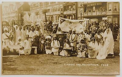 FELIXSTOWE, Empire Day, Suffolk RP - 1928 - Vintage postcard