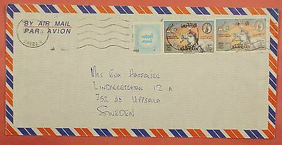 1984 Bahrain Multi Franked Airmail Cover To Sweden