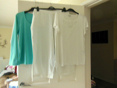 Bundle Lot Of 3 Items Ladies Clothing Size 16/cropped Trousers/tee Shirt/top