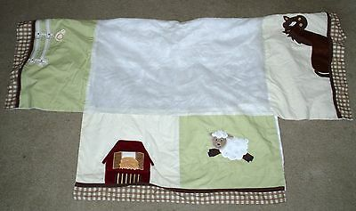 NoJo FARM BABIES Crib Bedding CRIB SKIRT Dust Ruffle EXCELLENT!