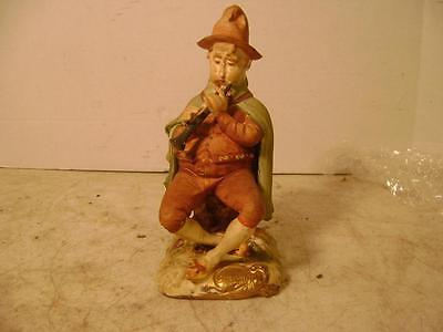 Vintage Arnart Creation Porcelain Man Playing the Horn Made in Japan