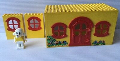 Vintage Lego Fabuland Cottage (1979) Windows & Rare Lucy Lamb Figure (1987)
