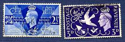 GREAT BRITAIN 1946-SC# 264/265-Peace at close of WW II-Set of 2-USED