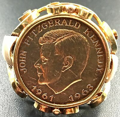 1961-1963 JFK Gold Coin Ring - 5.83 Grams 18K Gold Ring